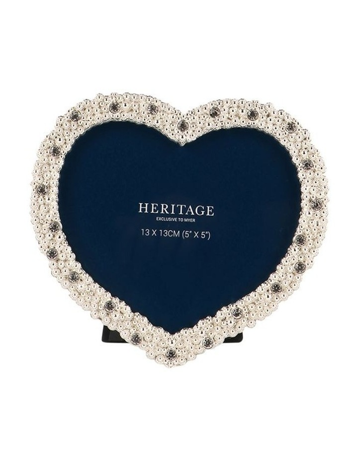 Heritage Dover Silver Heart Photo Frame 13x13cm image 1