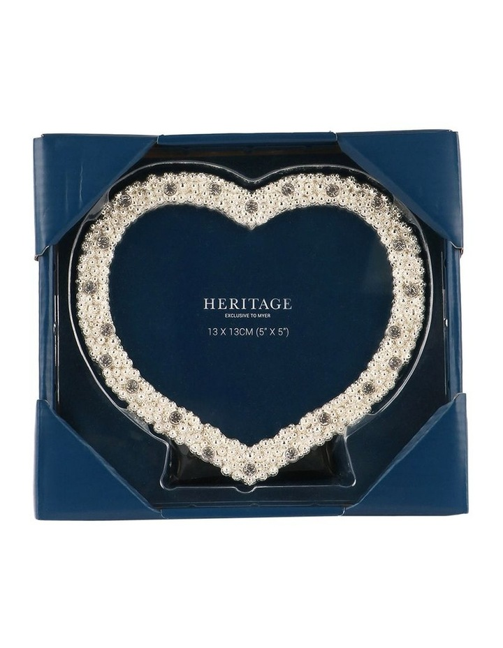 Heritage Dover Silver Heart Photo Frame 13x13cm image 3