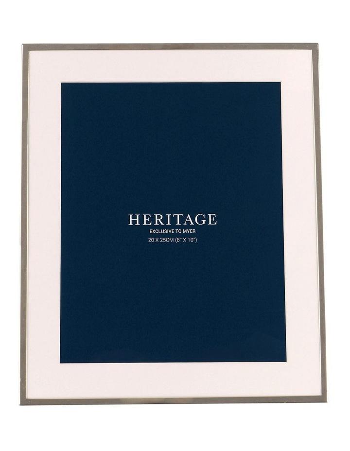 Heritage Matte Silver Metal Frame 20x25cm image 1
