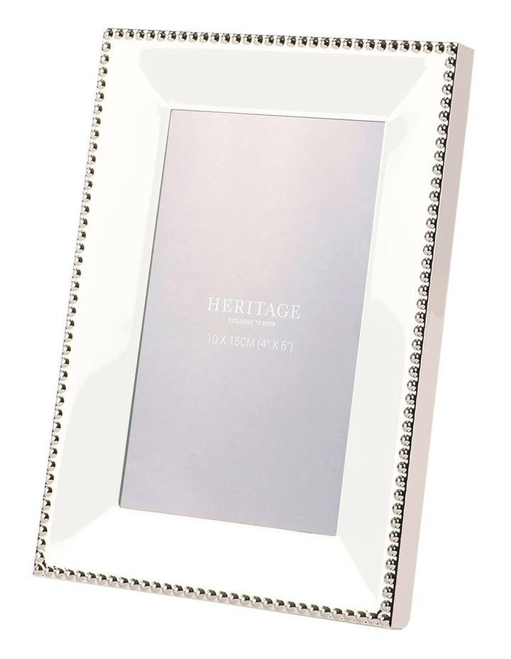 Heritage Caroline Shiny Silver Metal Frame 10x15cm image 1