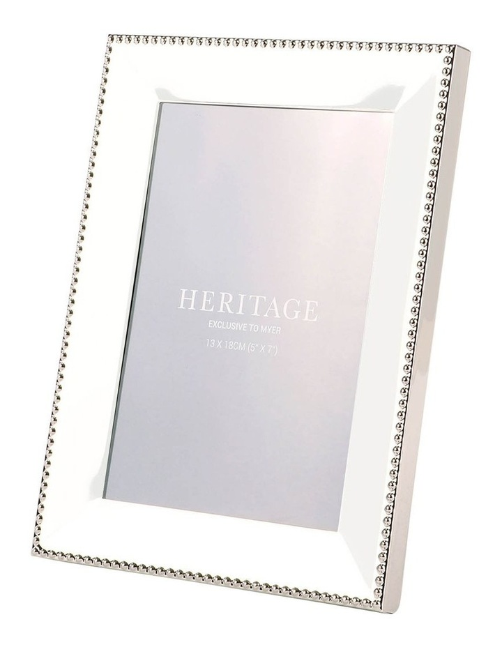 Heritage Caroline Shiny Silver Metal Frame 13x18cm image 1