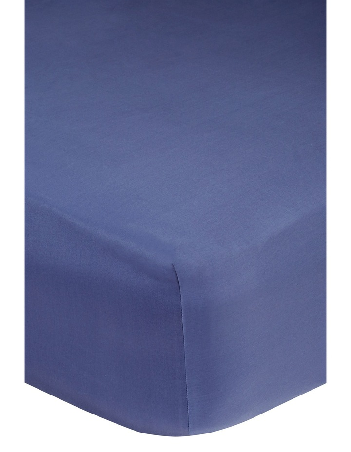 400 Thread Count Crisp & Fresh Egyptian Cotton Deep Fitted Sheet in Navy image 2
