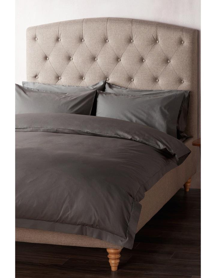 400 Thread Count Crisp & Fresh Egyptian Cotton Flat Sheet in Dark Grey image 1
