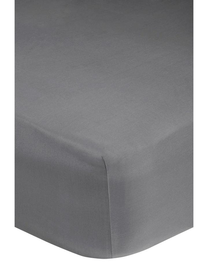 400 Thread Count Crisp & Fresh Egyptian Cotton Flat Sheet in Dark Grey image 2