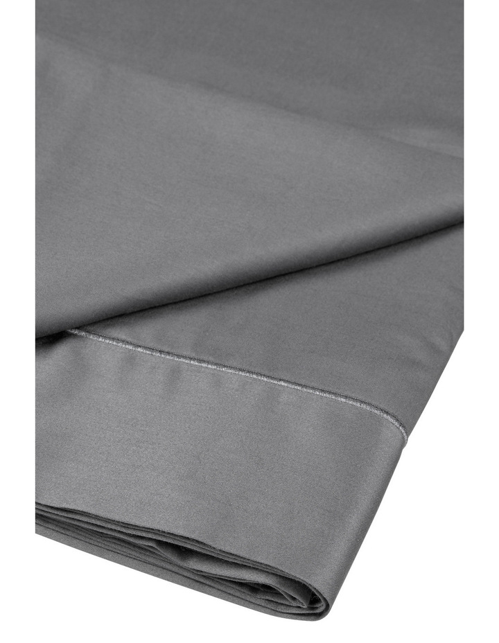 400 Thread Count Crisp & Fresh Egyptian Cotton Deep Fitted Sheet in Dark Grey image 3