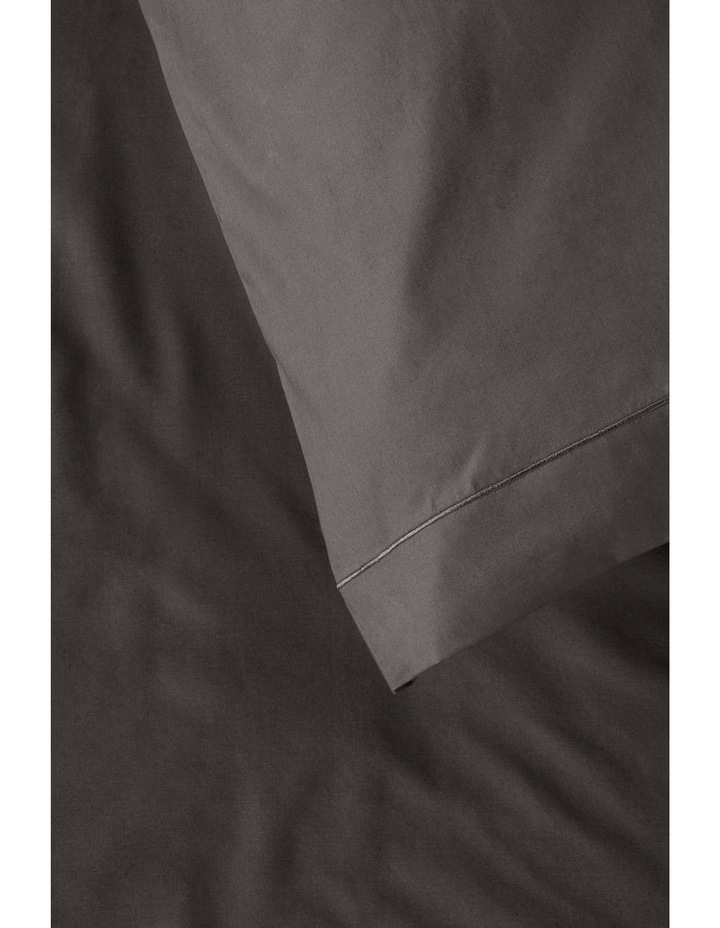 400 Thread Count Crisp & Fresh Egyptian Cotton Deep Fitted Sheet in Dark Grey image 4