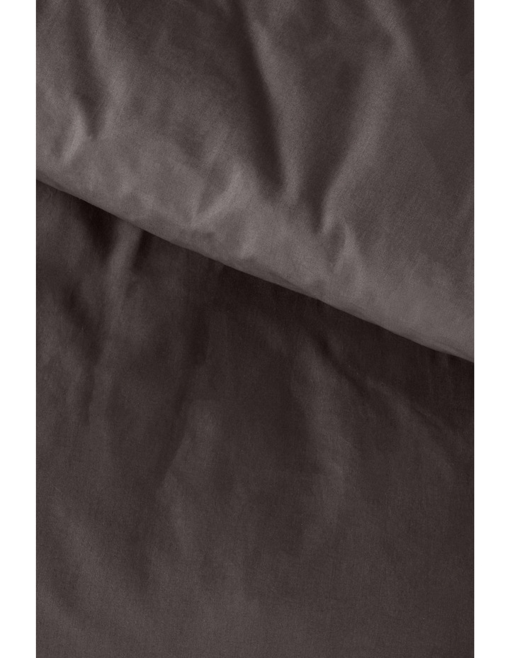 400 Thread Count Crisp & Fresh Egyptian Cotton Deep Fitted Sheet in Dark Grey image 5