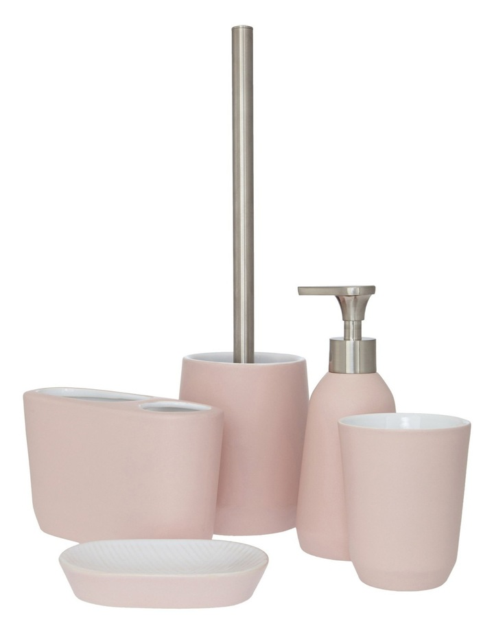 Lunda Plaster Ceramic Bathroom Accessories in Pink image 1