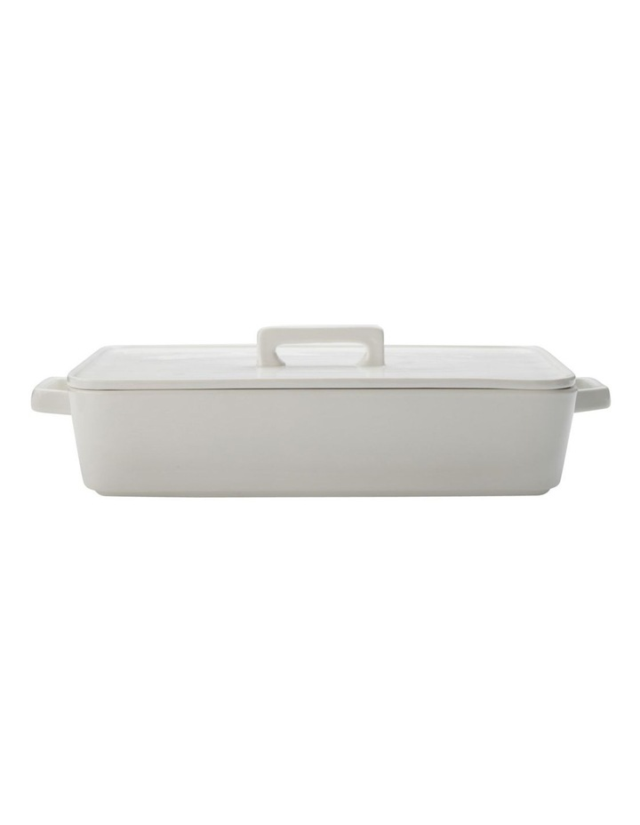Epicurious Rectangular Baker with Lid 32x22.5x7cm White Gift Boxed image 1