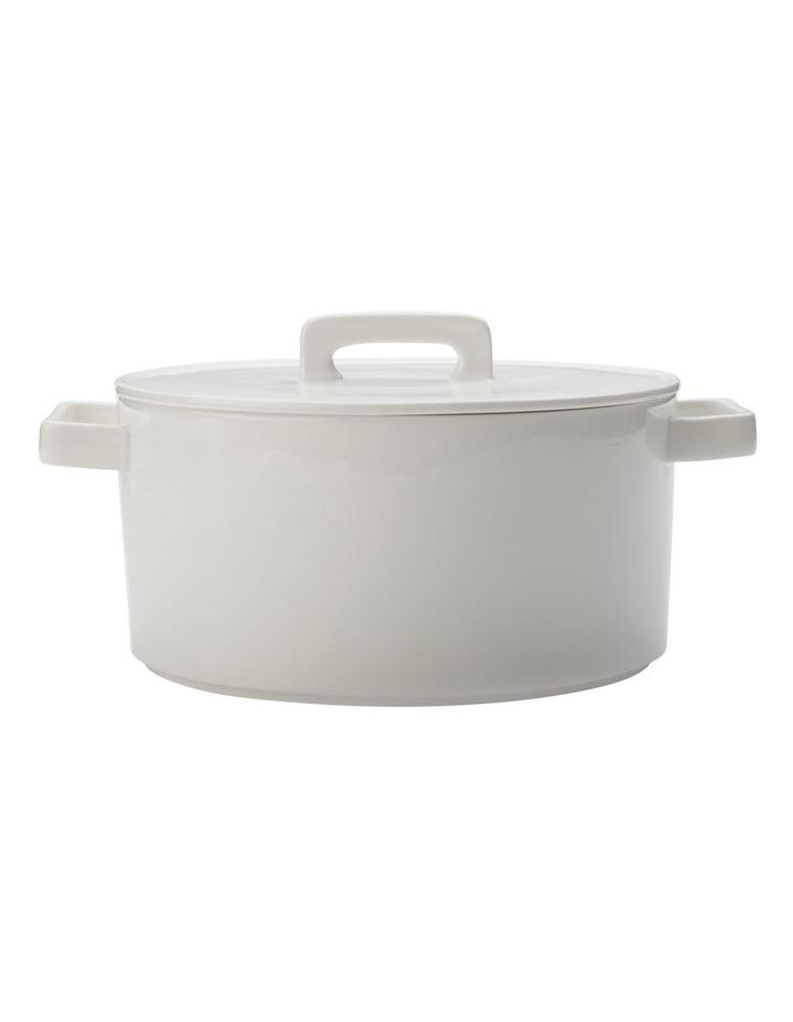 Round Casserole 2.6L White Gift Boxed image 1