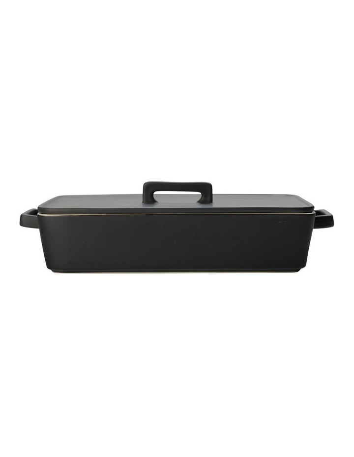 Epicurious Rectangular Baker with Lid 32x22.5x7cm Black Gift Boxed image 1