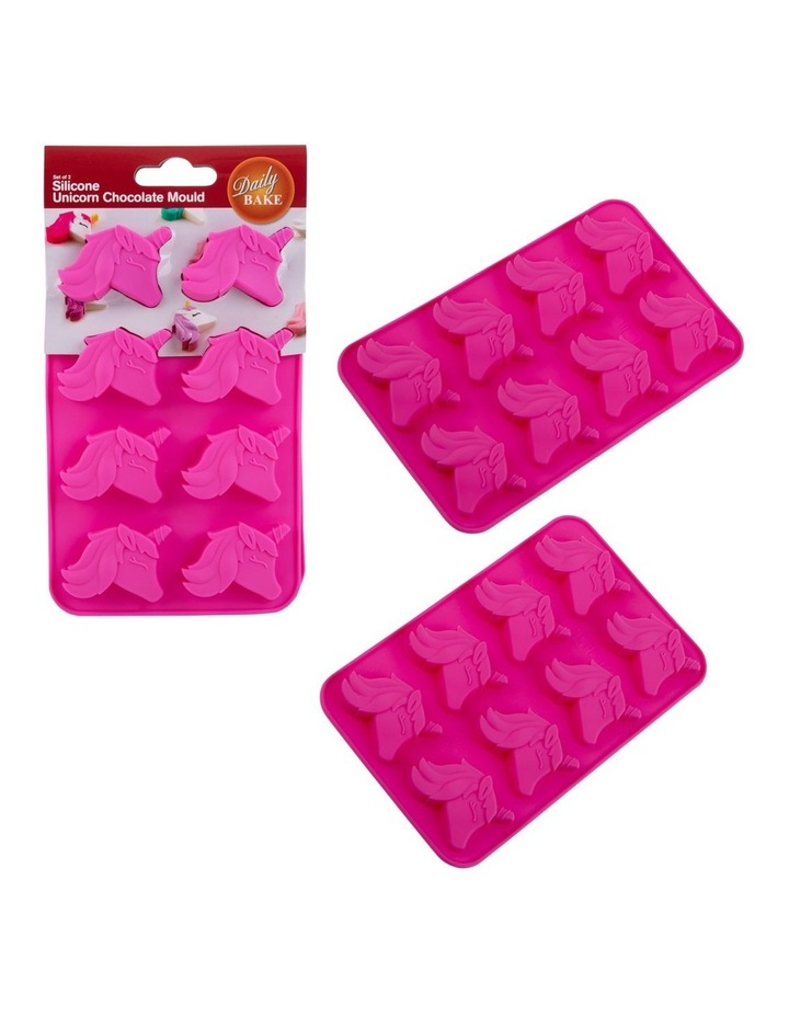 Silicone Unicorn 8 Cup Chocolate Mould Set 2 image 1