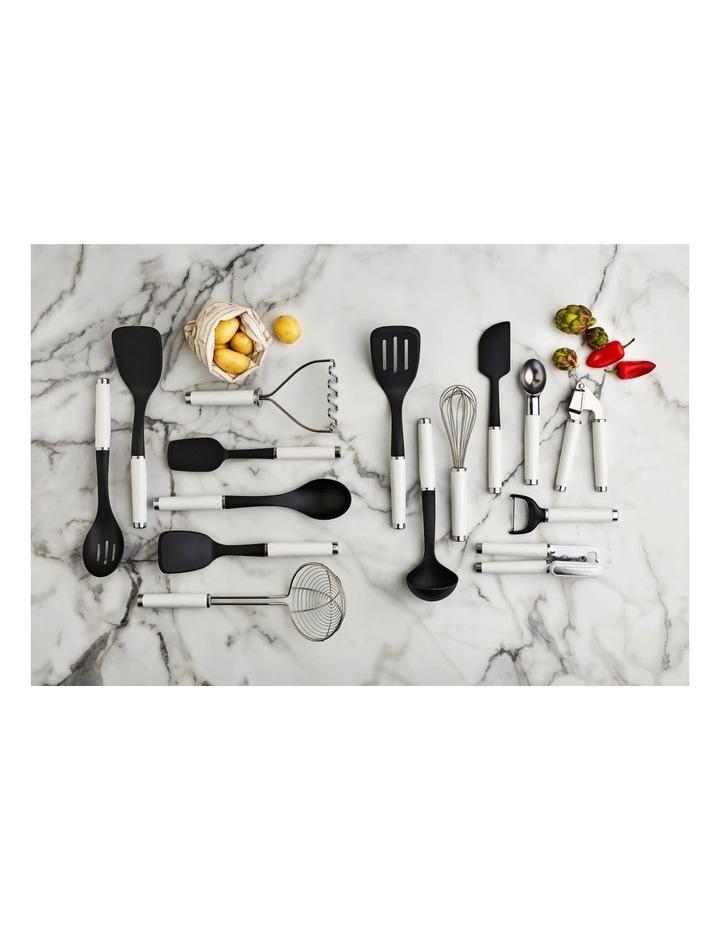 Classic Spoon Spatula Silicone White image 2