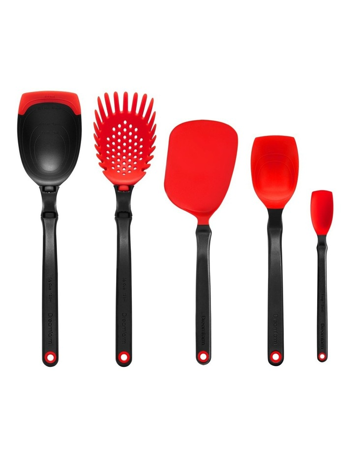 Essential Kitchen Tool Set in Red image 1