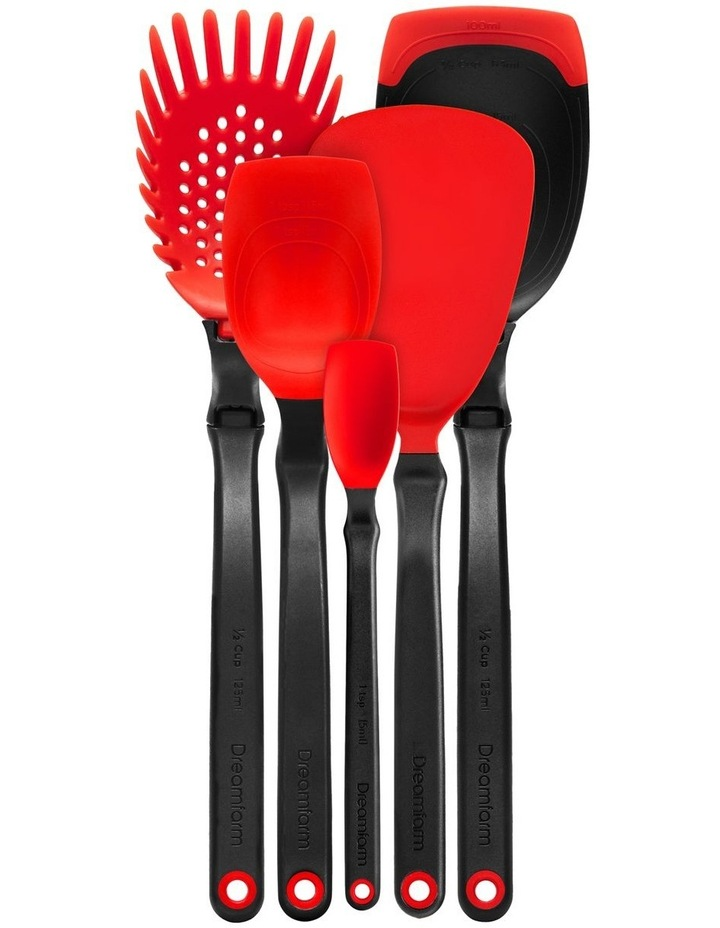 Essential Kitchen Tool Set in Red image 2