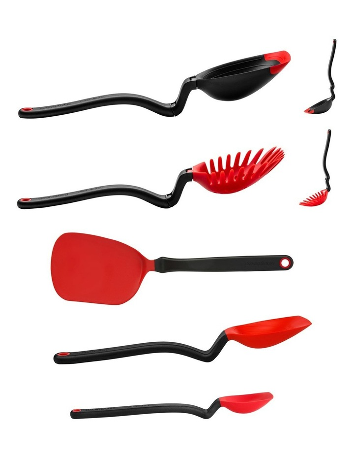 Essential Kitchen Tool Set in Red image 3
