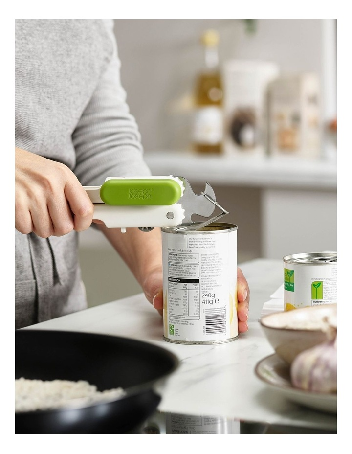 Pivot 3-in-1 Can Opener - White/Green image 2