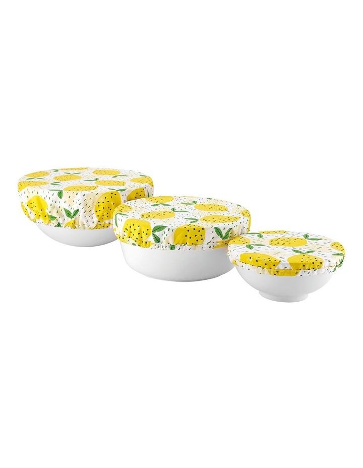 Stretch Food Bowl Covers 3pk Lemony image 1