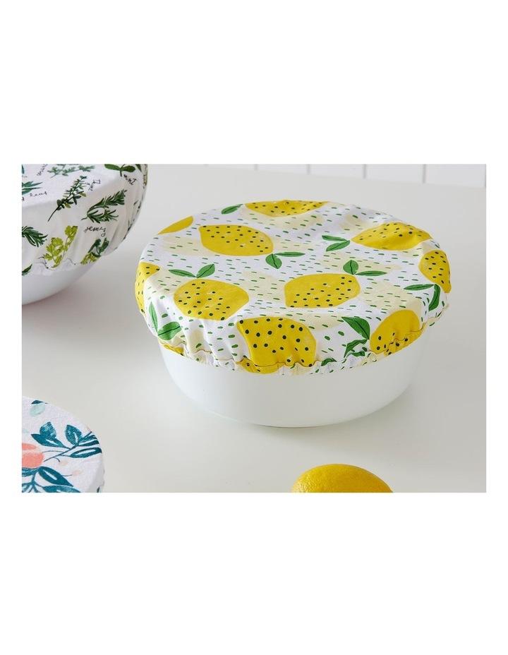 Stretch Food Bowl Covers 3pk Lemony image 2