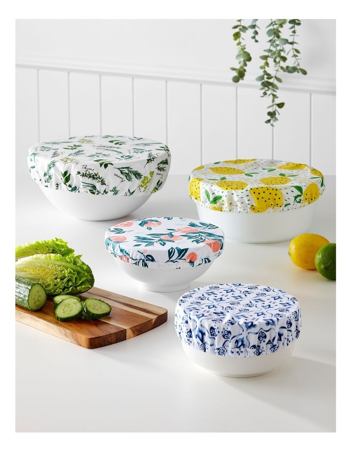 Stretch Food Bowl Covers 3pk Marbella image 3