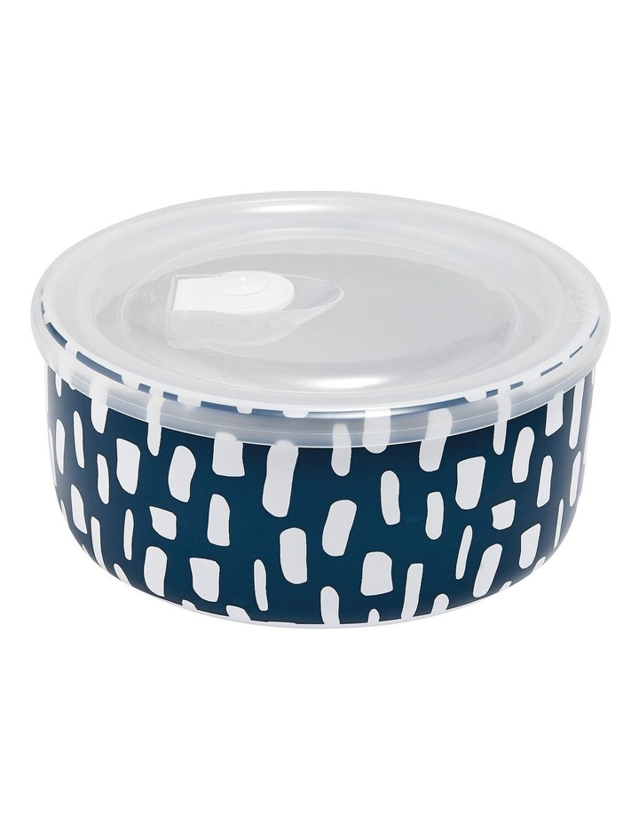Abode Ink Blue Dashes 16cm Microwave Food Bowl image 1