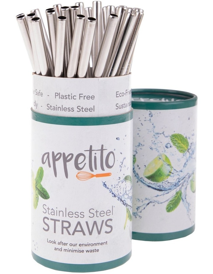 Stainless Steel Straight Smoothie Straw image 1