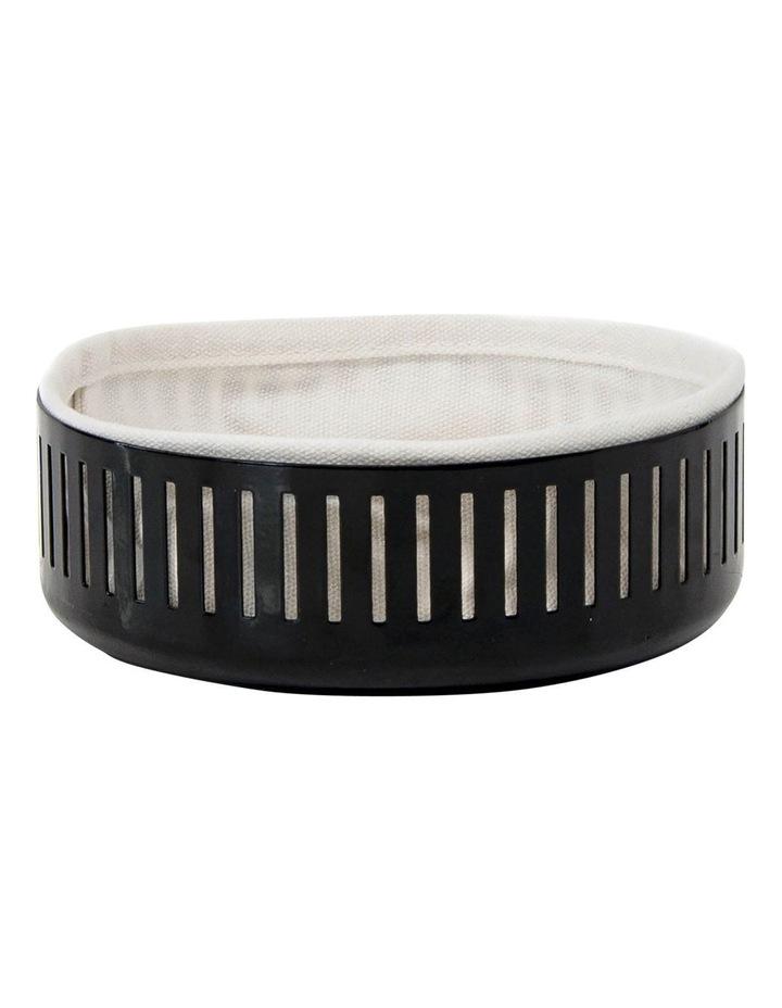 Strand Bread Basket 15cm - Black image 1
