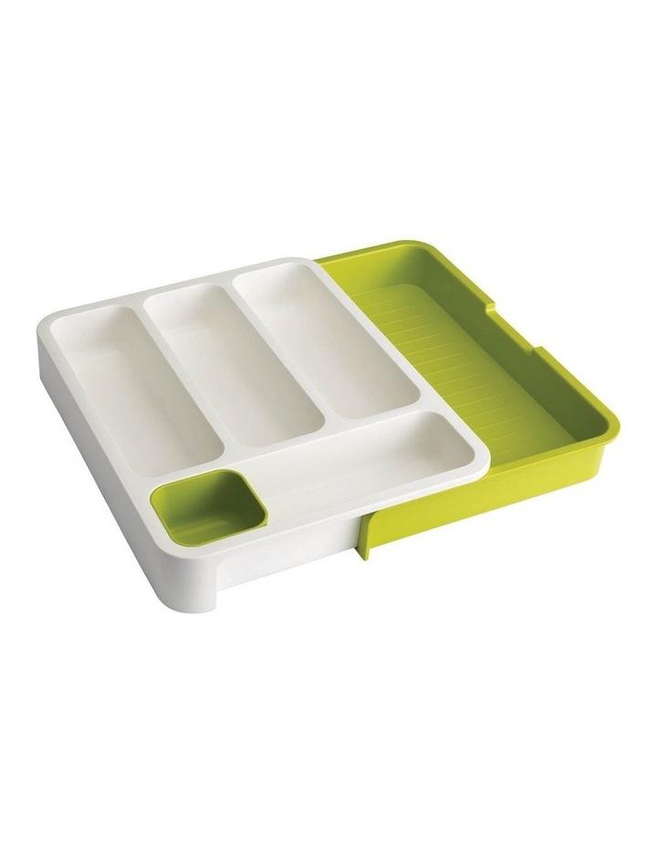Joseph Joseph DrawerStore - Cutlery Tray-White/ Green image 1