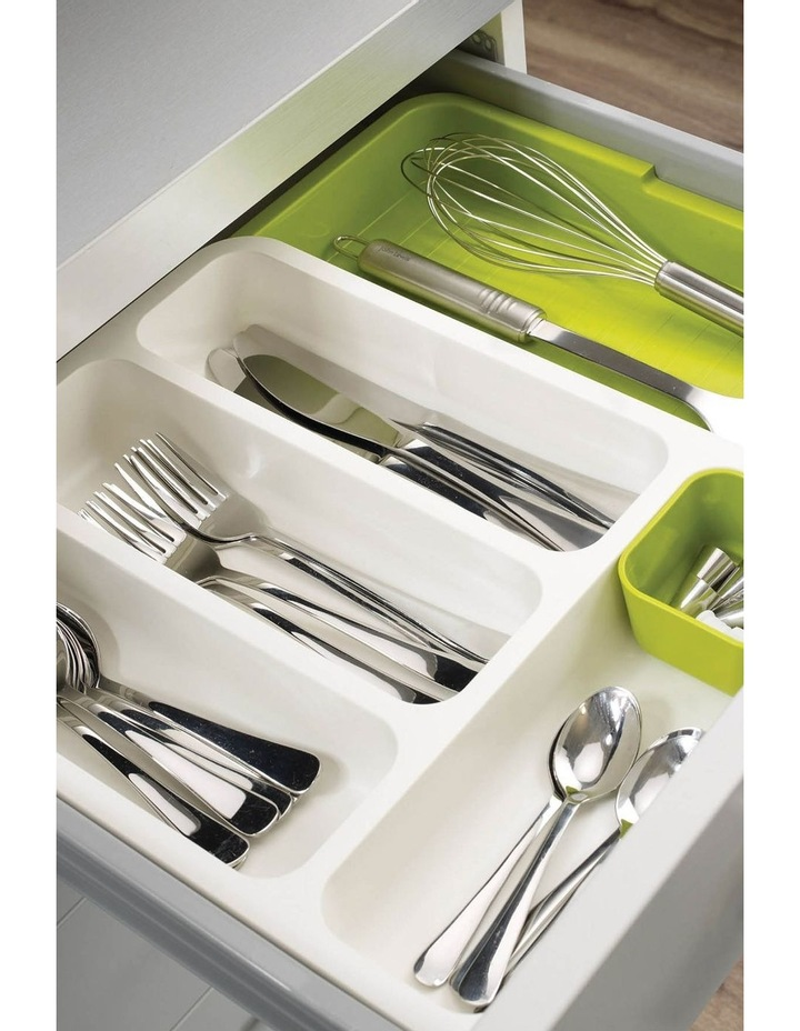 Joseph Joseph DrawerStore - Cutlery Tray-White/ Green image 2