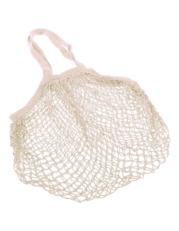 Cotton String Bag Long Handle - Natural image 1
