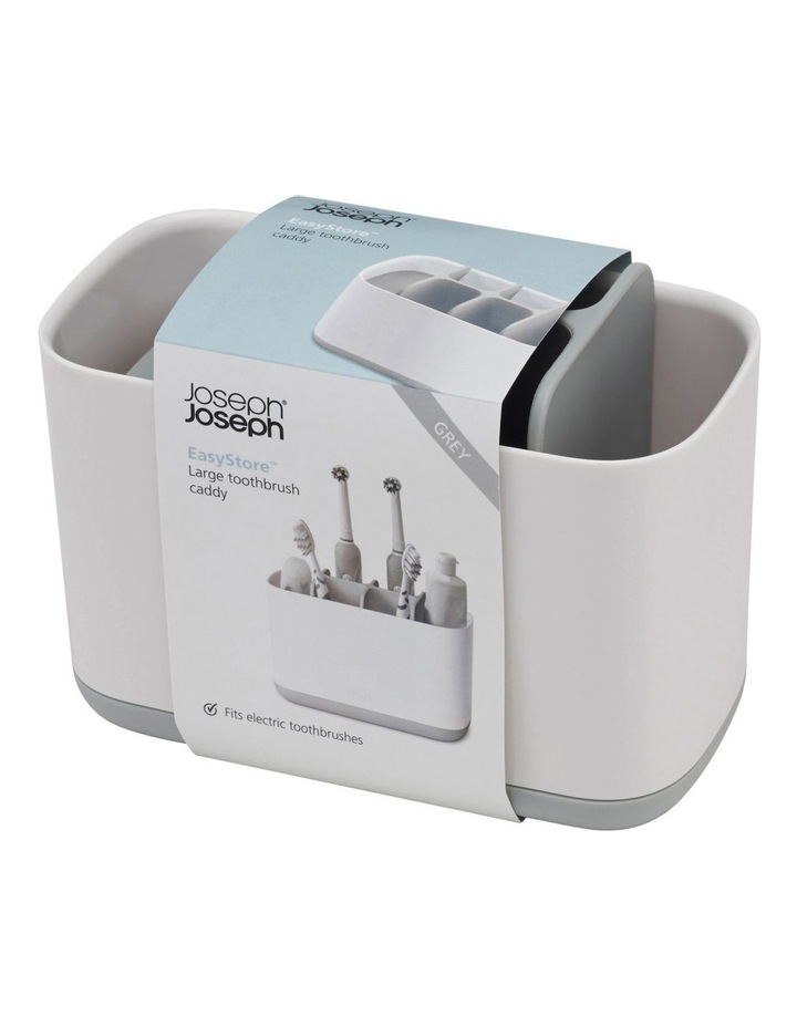 EasyStore Toothbrush Caddy Large - Grey/White image 2