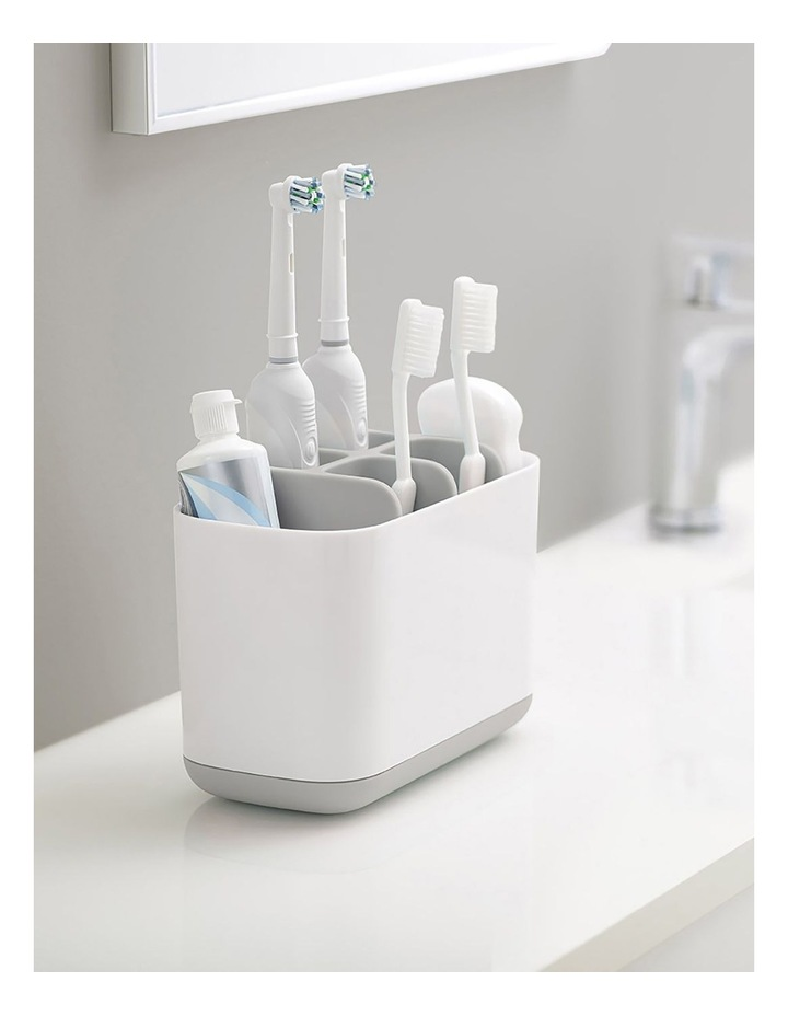 EasyStore Toothbrush Caddy Large - Grey/White image 3