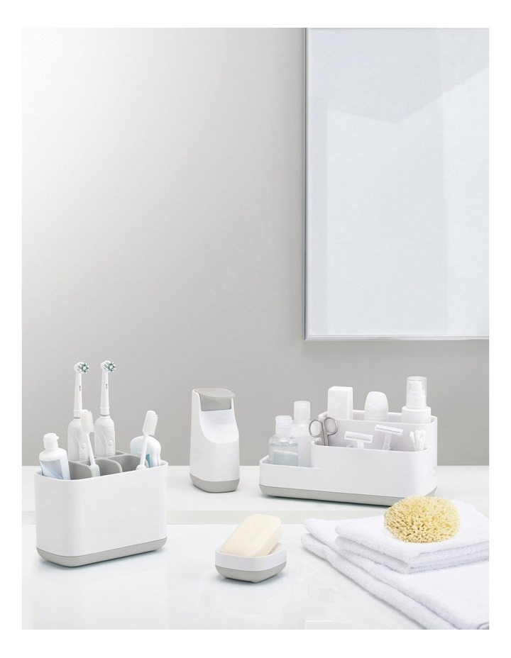 EasyStore Toothbrush Caddy Large - Grey/White image 4