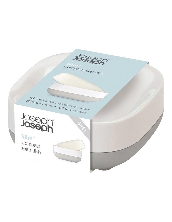 Slim Compact Soap Dish- Grey/White image 1