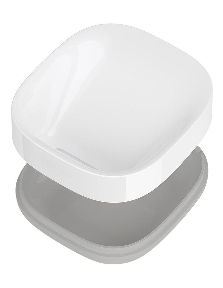 Slim Compact Soap Dish- Grey/White image 2