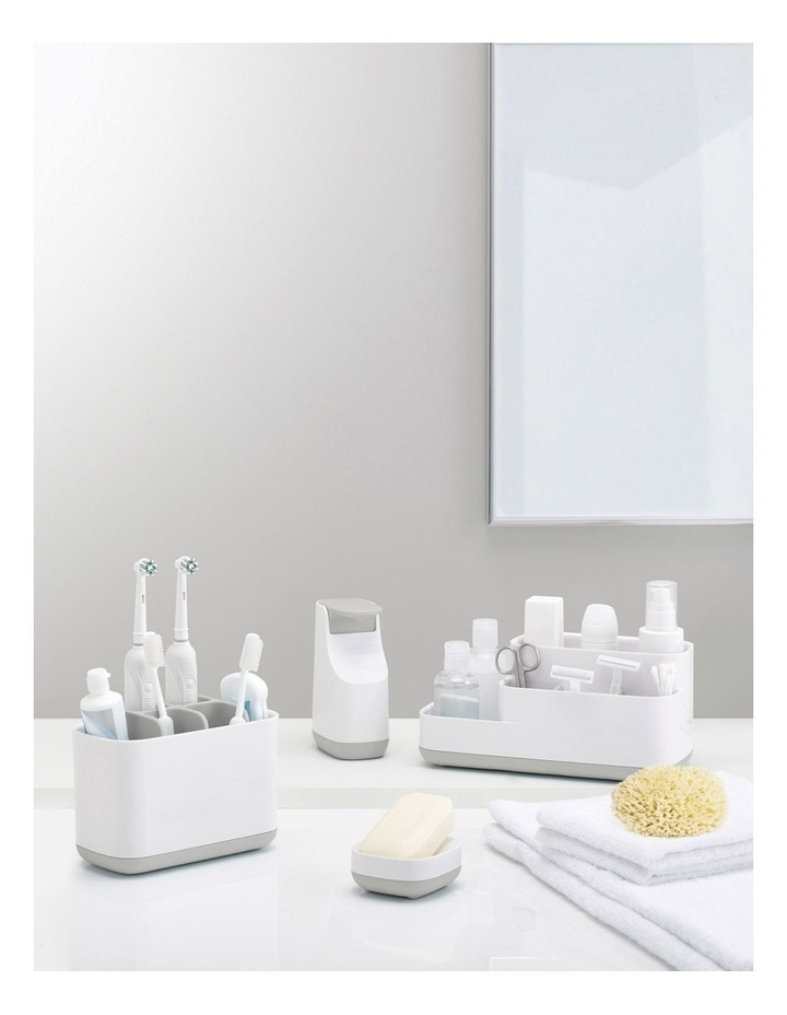 Slim Compact Soap Dish- Grey/White image 4