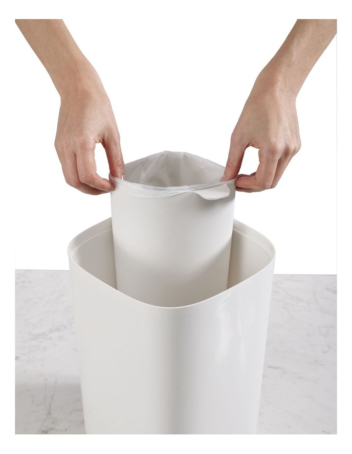 Split Bathroom Waste Seperation Bin- Grey/White image 4