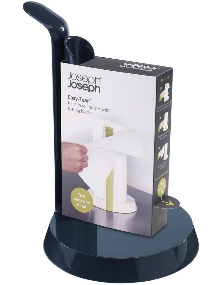 Easy-Tear Kitchen Roll Holder - Grey image 1