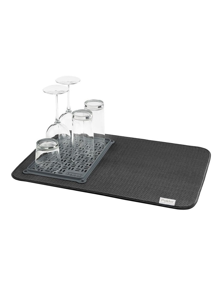 Microfibre Drying Mat W/ Glass Tray 56 X 38cm image 1