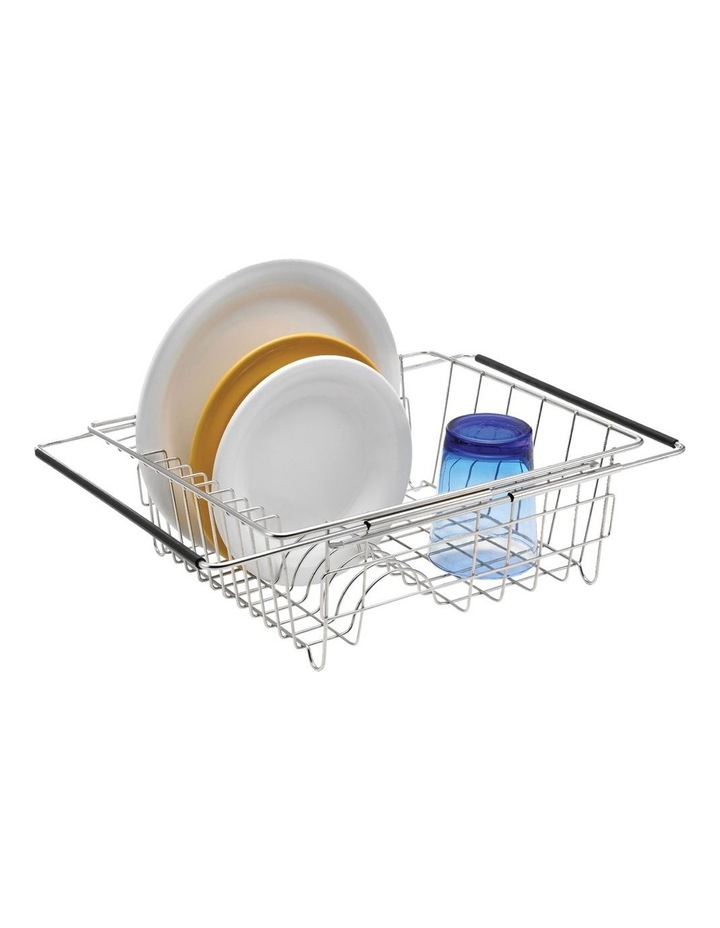 Stainless Steel Expandable In-Sink Dish Rack image 1