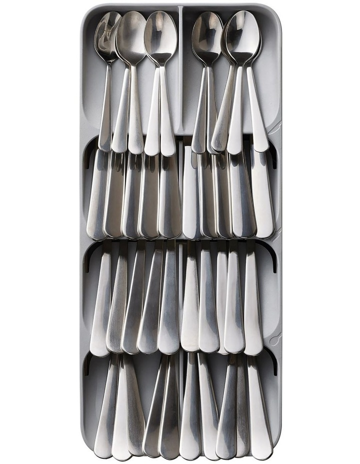 DrawerStore Large Compact Cutlery Organiser - Grey image 3