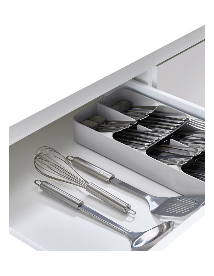 DrawerStore Large Compact Cutlery Organiser - Grey image 4