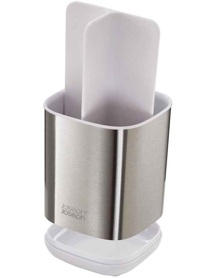 EasyStore Steel Toothbrush Caddy - White image 3