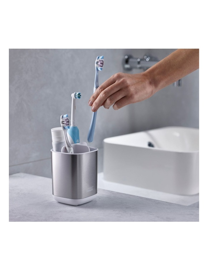 EasyStore Steel Toothbrush Caddy - White image 5