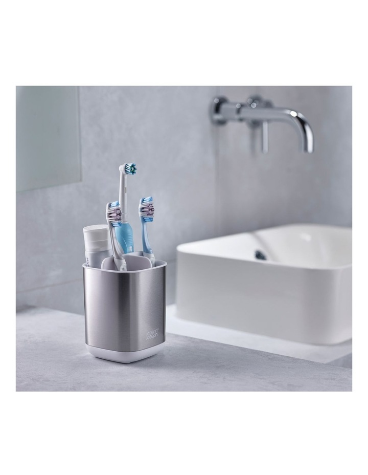 EasyStore Steel Toothbrush Caddy - White image 6
