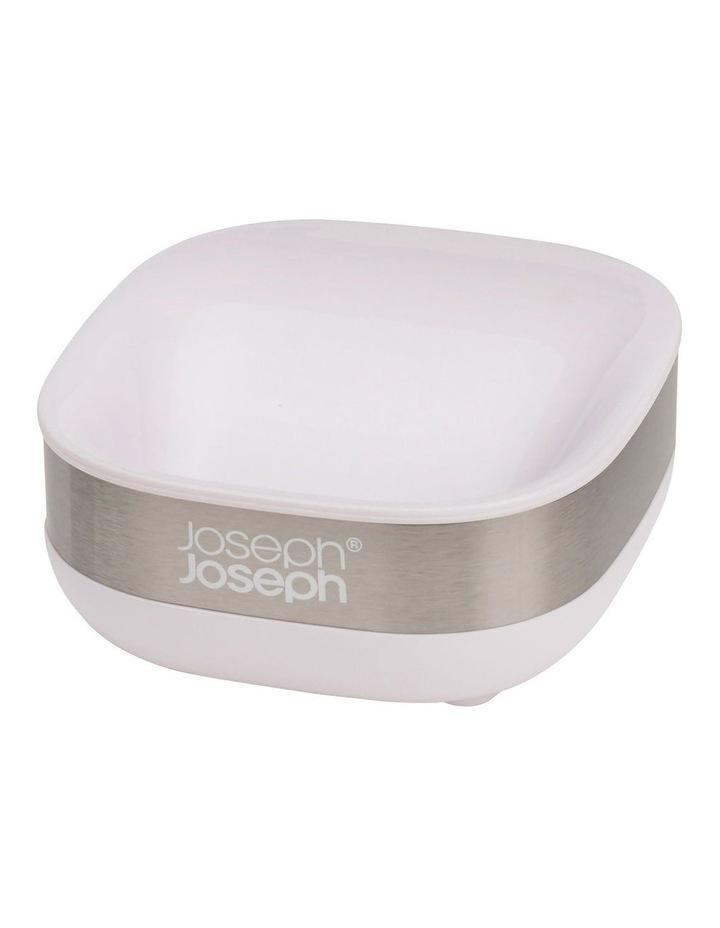 Slim Steel Soap Dish - White image 2
