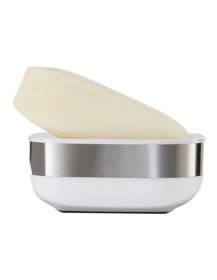 Slim Steel Soap Dish - White image 3