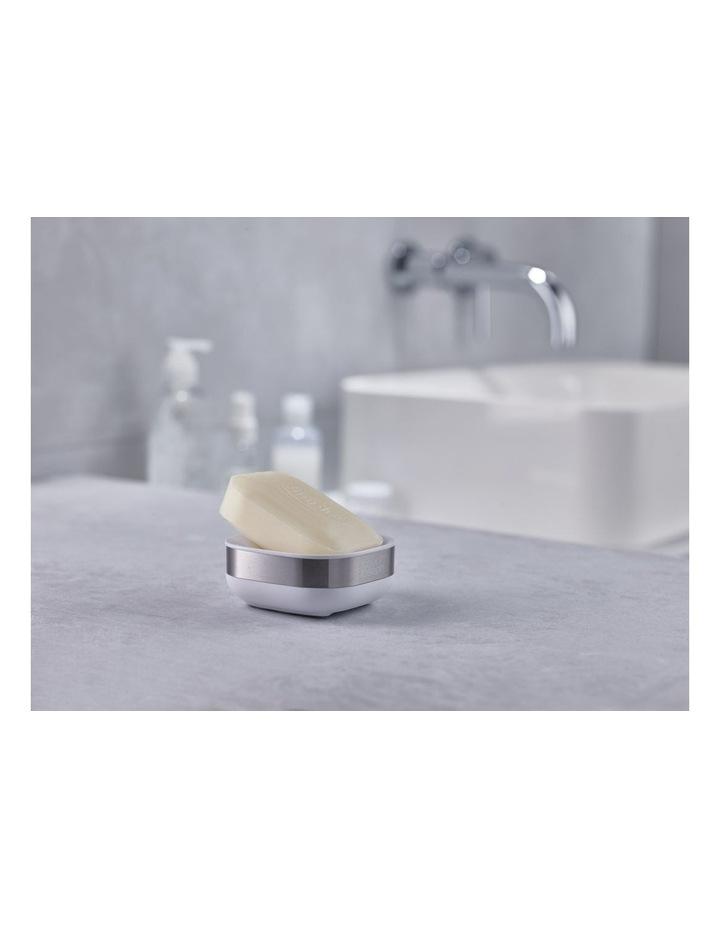 Slim Steel Soap Dish - White image 5