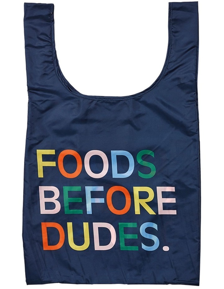 Eco Recycled PET Foods Before Dudes Shopping Bag image 1