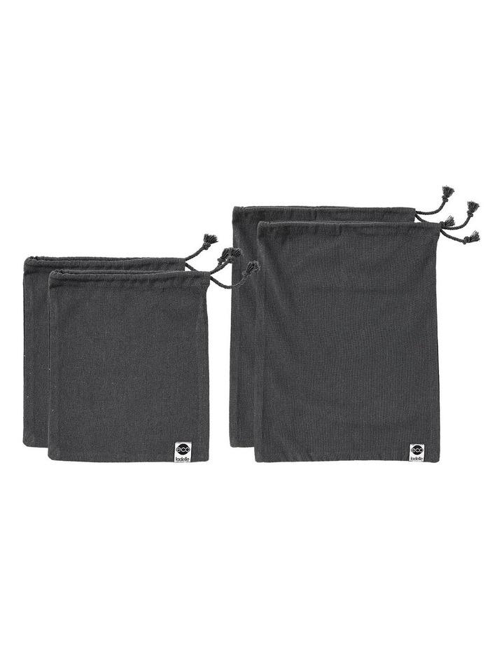 Eco Recycled Charcoal Fabric Produce Bag Set image 1